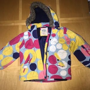 👧🏼 Mini Boden Polka Dot Hooded Jacket
